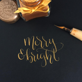 christmas-calligraphy-pointed-pen-lettering