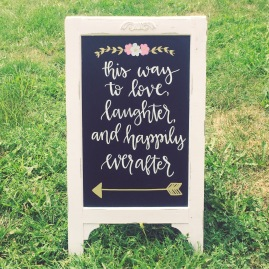 Wedding Chalkboard Lettering