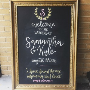 Wedding Chalkboard Lettering