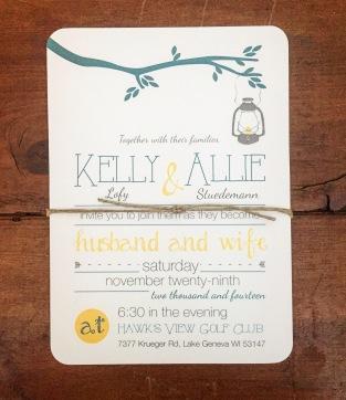 Fun and Casual Wedding Invitation