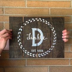 Monogram Wood Sign