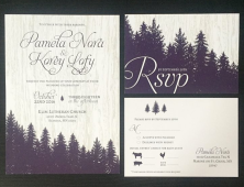 Woodsey Fall Wedding Invitation