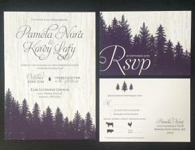 Woodsey Fall Wedding Invitation