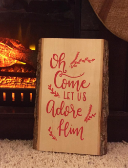 Holiday Wood Sign