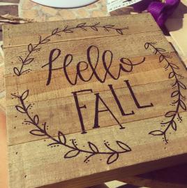 Hello Fall Wood Sign