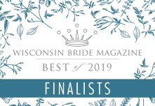 Finalist for the 2019 Best Of calligraphy for WI Bride!